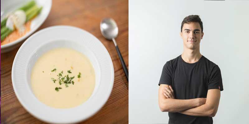 スープと外人